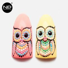 Eyes on Events providing all Beauty tips Owl Nail Art, Owl Nails, Animal Nail Art, Minion Nails, Nail Art Dots, Cute Nails, Pretty Nails, Nagel Stamping, Cute Nail Designs