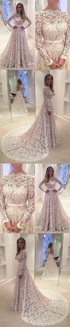 Gorgeous Long Sleeves Lace Affordable Long Evening Prom Dresses,M00078#prom #promdress #promdresses #longpromdress #promgowns #promgown #2018style #newfashion #newstyles #2018newprom#longsleeve#lace#eveninggown#backless