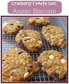 the nOATbook: Recipe: Cranberry and White Chocolate Anzac Biscuits