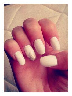 Summer#nails#allwhite#gold