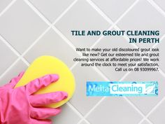 Tile and Grout Cleaning in Perth - Want to make your old discoloured grout look like new? Get our esteemed tile and grout cleaning services at affordable prices! We work around the clock to meet your satisfaction. Call us on 08 Grout Cleaning, Cleaning Services, Perth, Meet You, Tile, Clock, Make It Yourself, How To Make, Housekeeping