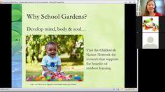 Webinar: Best Practices in School Gardens -with Mary Dudley