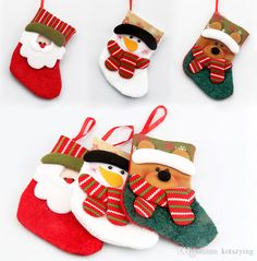 2017 A Set Of Four Lovely Christmas Decoration Santa Claus Stockings Of Christmas X'Mas Tree Christmas Present Toy For Children Toys For Xmas Unique Christmas Gifts From Kotszying, $1.01| Dhgate.Com