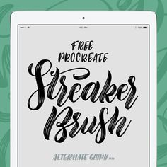Procreate Brushes for iPad lettering by Melissa Cabral Ipad Pro, Doodle Lettering, Typography, Brush Lettering, Affinity Designer, Lettering Tutorial, E Design, Creations, Free Brushes