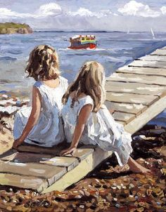 """""""Childhood is measured out by sounds and smells and sights, before the dark hour of reason grows."""" Artist: Sheree Valentine Daines ༺ß༻"""