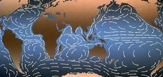 The Kuroshio or 'Black Current' in the Pacific Ocean is a strong western boundary current, the equivalent of the Gulf Stream in the Atlantic, which for thousands of years has swept shipwrecked Japanese sailors onto American shores. via smithsonian.com. #Black_Current #Kuroshio #Oceanography #smithsonianmag