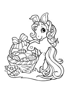 Unicorn Coloring Pages, Easter Coloring Pages, Cute Coloring Pages, Flower Coloring Pages, Animal Coloring Pages, Coloring Books, My Little Pony Coloring, My Little Pony Drawing, Coloring Pages For Kids
