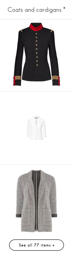 """""""Coats and cardigans *"""" by mesi05 ❤ liked on Polyvore featuring outerwear, jackets, blazers, blazer jacket, dorothy perkins jackets, dorothy perkins, coats, grey longline coat, long gray coat and long coat"""