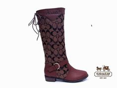 These are Amaze!!!!!Coach women boots saddle brown