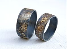 Unique Wedding Band Sets His and Hers | His and Hers Wedding Bands ...