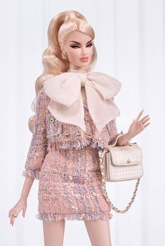 Véronique Perrin® (Little Day Ensemble) Dressed Doll | Sideshow Collectibles Fashion Royalty Dolls, Fashion Dolls, Pale Blonde, Fashion Brand, Fashion Design, Mermaid Gown, Chiffon Gown, Barbie Clothes, Barbie Dress
