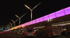 See the Colorful New Light Show at LAX in Time-Lapse Action - Airports - Curbed LA