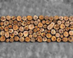 CUSTOM MADE 12x48 Rustic Modern Tribal Decor Tree Branch Wall