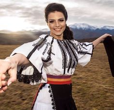 Romanian happiness from Transylvania area! Frankenstein Costume, Young Frankenstein, Folk Costume, Costumes, Historical Costume, Traditional Outfits, High Waisted Skirt, Black And White, Folk Art