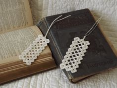Hardanger Embroidery Bookmarks Set of Two