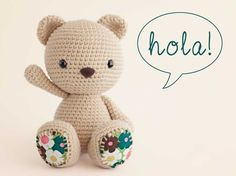 Amigurumi Crochet Osito Bear Free Pattern - Amigurumi Free Patterns and Amigurumi Tutorials Knitted Teddy Bear, Crochet Teddy, Crochet Bear, Cute Crochet, Crochet Animals, Mini Amigurumi, Amigurumi Doll, Easy Crochet Patterns, Amigurumi Patterns