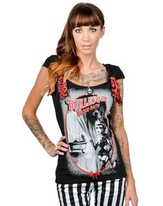 9b4eb9f90708a Too Fast Black T-Shirt Gothic Punk Lolita M Burlesque Blood Bath