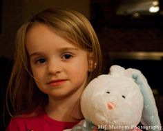 A little girl and her bunny. By miss Maehym Photography.