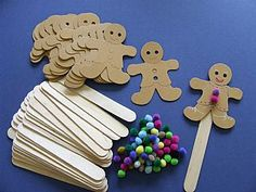 Gingerbread Man Bookmarks - Pack of 30 Themed Crafts, Gingerbread Crafts,  childrens crafts, kids craft supplies, children's craft kits, crafts for kids