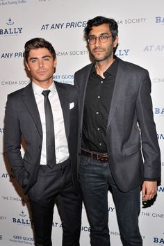 "Zac Efron and director Ramin Bahrani attend the Cinema Society & Bally screening of Sony Pictures Classics' ""At Any Price"" at Landmark Sunshine Cinema on April 18"