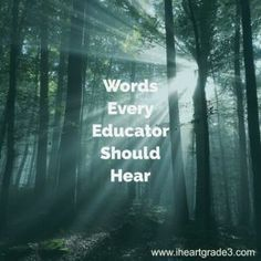 Words to Uplift Any Educator - I Heart Grade 3 Third Grade Math, Grade 3, Uplifting Words, Powerful Words, Parenting Styles, Parenting Blogs, Parents As Teachers, Elementary Education, Education Quotes