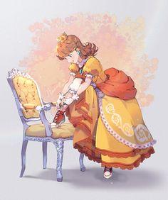 Princesa Daisy, Princesa Peach, Mario Fan Art, Super Mario Art, The Legend Of Zelda, Resident Evil, Character Drawing, Character Design, Daisy Art