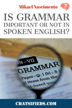 English Learning Tips: Is grammar important or not in spoken English? Study hard and try to spot how grammar rules play a role in everyday communication. English Speaking Skills, English Class, English Grammar, Grammar Tips, Grammar Rules, English Study, Learn English, Improve Your English, Learn Faster