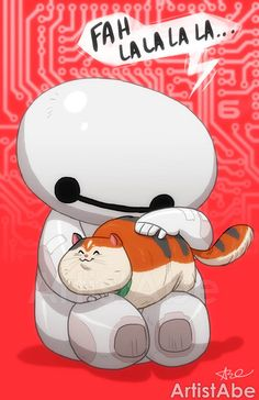 Baymax and Mochi by ArtistAbe on Etsy - Big Hero 6