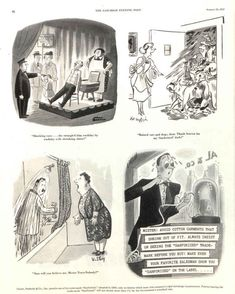 Charles Addams, Richard Taylor, Saturday Evening Post, Advertising, Ads, August 22, Art Blog, Mystery, Cartoon