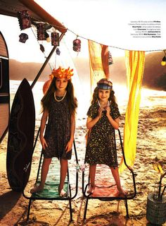 Vogue Brasil Kids Editorial O Havai é Aqui, Summer 2012 Shot #1