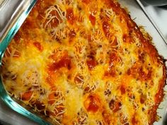 Bubble Up Enchilada Casserole, uses Grands Biscuits, and it's a weight watchers recipe. Awesome.