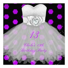 29 best 13th birthday party invitations images on pinterest 13 13th birthday party girls invitation filmwisefo