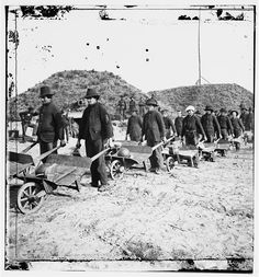 Savannah, Ga., vicinity. Sherman's troops removing ammunition from Fort McAllister in wheelbarrows
