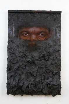 """SPOTLIGHT: Titus KapharFor his exhibition at Jack Shainman Gallery, Titus Kaphar presents a painting show titled """"Drawing the Blinds,"""" along with an extension of his 2011 Jerome Project titled. Renaissance Artists, Invisible Man, Black Artists, Traditional Paintings, Texture Art, Portrait Art, African Art, Urban Art, Figurative Art"""