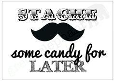 8x10 Little Man / Mustache Bash Birthday by GreenElephantPrints, $6.00