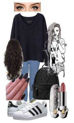 """""""who's got the heart? who's heart is the biggest?"""" by africaouass on Polyvore featuring Topshop, Wood Wood, adidas Originals, Guerlain, Chictopia, women's clothing, women's fashion, women, female and woman"""