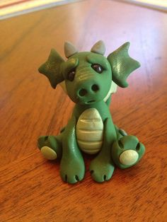 Baby Dragon Figurine Polymer Clay by Whimsybydesign1 on Etsy, $19.00