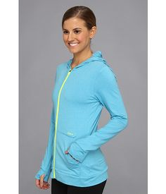 ASICS Thermopolis® Thermal LT Hoodie Atomic Blue Heather - 6pm.com
