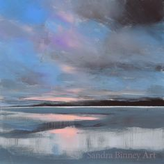 Looking for inspiration? Take a look at this recent entry to our competition by sandra binney - Paint a seascape or harbour scene to win copies of David Bellamy books from Search Press Painting Competition, Seascape Paintings, Reflection, England, Waves, Scene, Search, Gallery, Artist