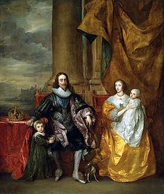 1633 Henrietta Maria and Charles I and family by Sir Anthonis van Dyck (Royal Collection)