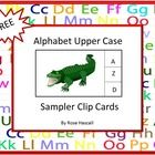 Free: With this Alphabet Upper Case Clip Cards Sampler you will receive four(4)clip cards from my Alphabet Upper Case Clip Cards Set. The full vers...