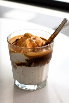 Blue Bottle Affogato (espresso over ice cream)