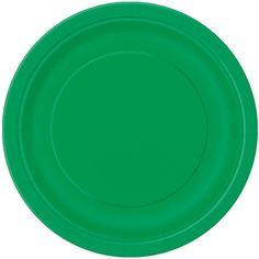 Smaragd Grøn Tallerken - Single. Oplagte til enhver julefest!