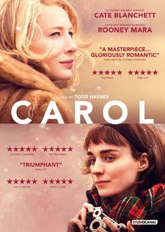 Directed by Todd Haynes.  With Cate Blanchett, Rooney Mara, Sarah Paulson, Kyle Chandler. An aspiring photographer develops an intimate relationship with an older woman. (=)