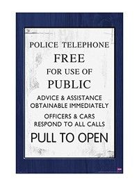 "Wish | Doctor Who TARDIS Sign Poster  (22 x 34) (Size: 22"" by 34"")"