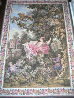 Vintage French Tapestry By Panneaux Gobelins Wall by QVintage, $450.00
