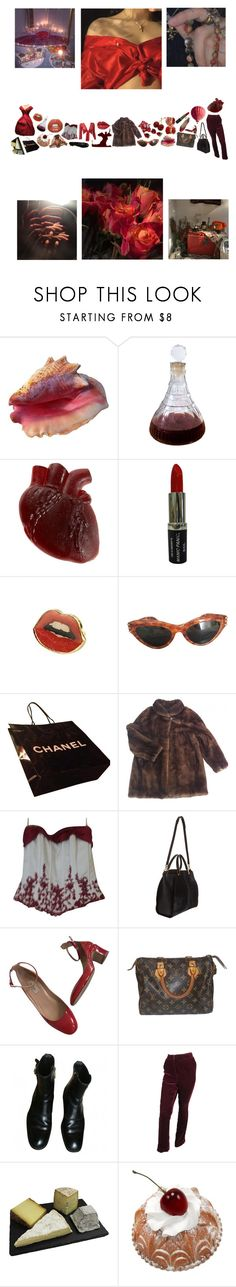 """red romantic"" by chloesuttonchoi ❤ liked on Polyvore featuring Fountain, Manic Panic NYC, David's Bridal, Maiyet, Louis Vuitton, Oscar de la Renta and Myla"