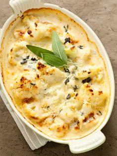 Parmesan Cauliflower Gratin with Sage