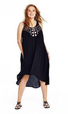 Jethro Embroidered Rayon Dress