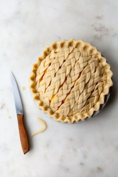 Cinnamon Peach Pie w